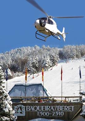 Baqueira Beret helicoptero