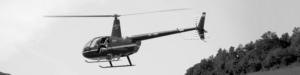 filmación aerea en helicóptero